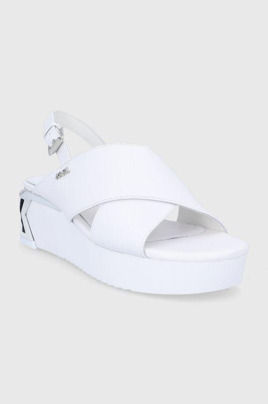 Karl Lagerfeld - Sandały skórzane biały