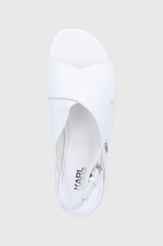biały Karl Lagerfeld - Sandały skórzane