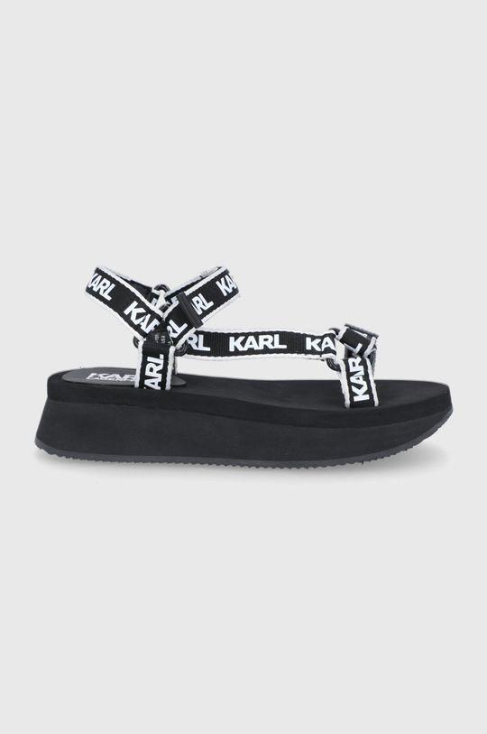 czarny Karl Lagerfeld - Sandały Damski