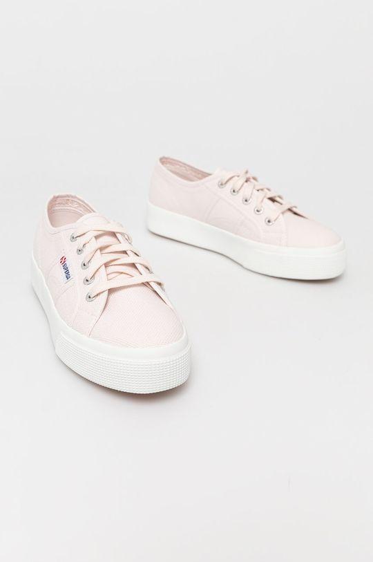 Superga - Tenisówki pastelowy różowy