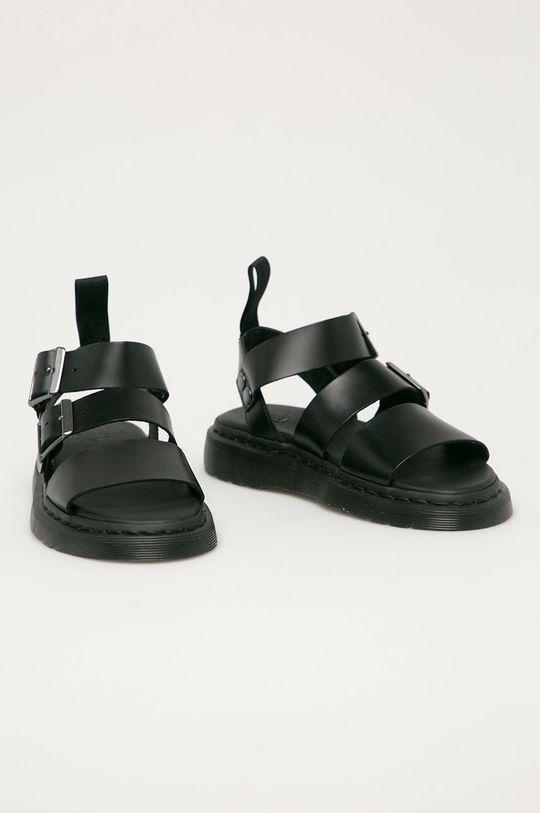 Dr. Martens - Kožené sandály Gryphon D černá