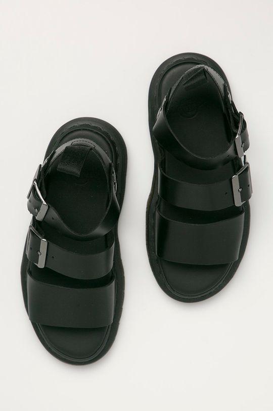 černá Dr. Martens - Kožené sandály Gryphon D