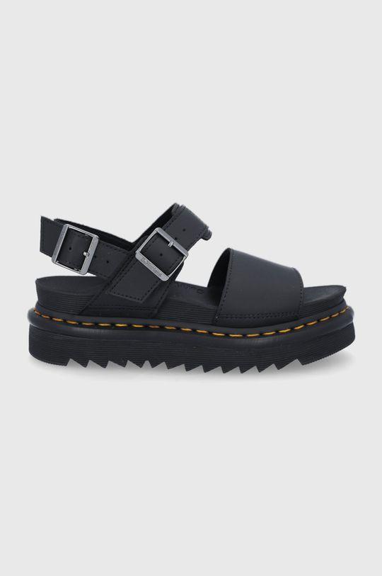 čierna Dr. Martens - Kožené sandále Voss Dámsky
