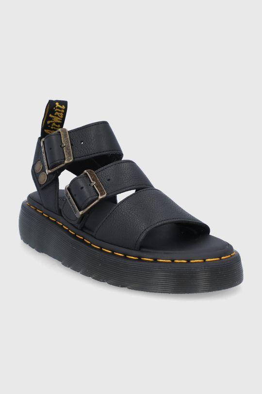 Dr. Martens - Sandały skórzane Gryphon Quad czarny