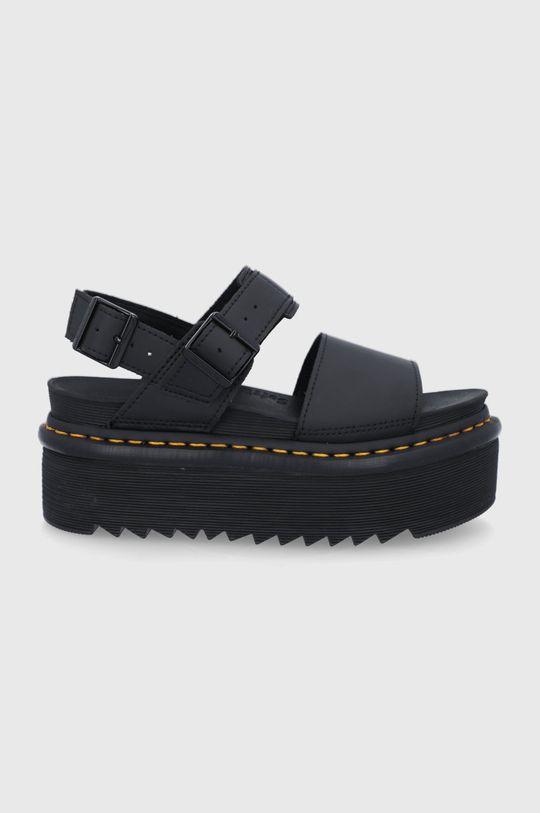 černá Dr. Martens - Kožené sandály Voss Quad Dámský