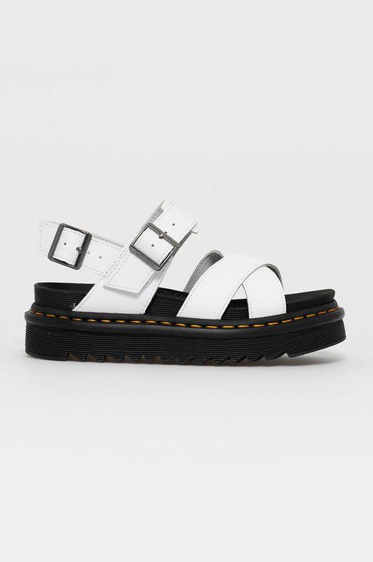 biela Dr. Martens - Kožené sandále Voss II Dámsky