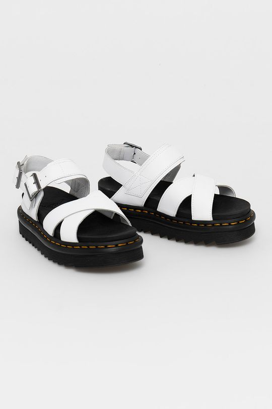 Dr. Martens - Kožené sandále Voss II biela