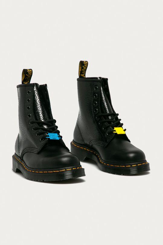 Dr. Martens - Kožené workery x Keith Haring černá