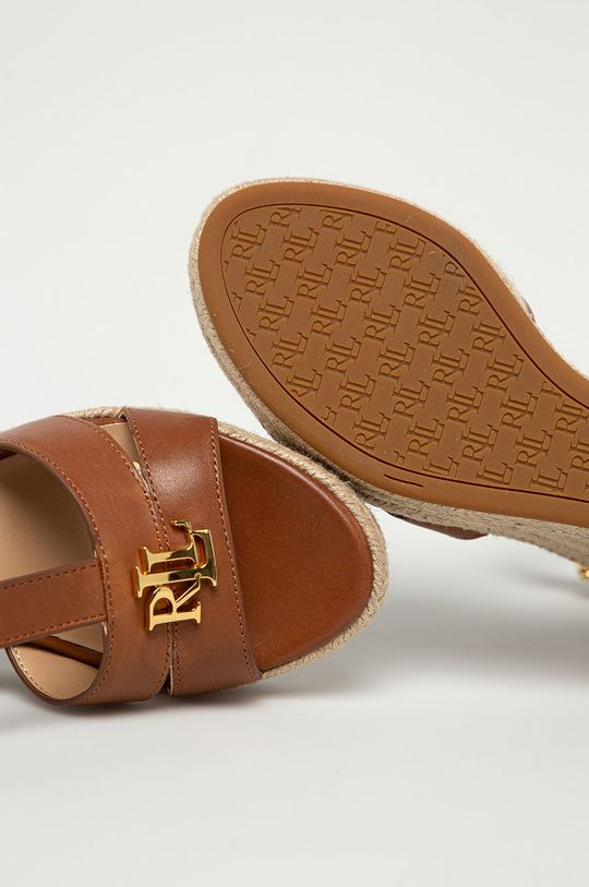 brązowy Lauren Ralph Lauren - Sandały skórzane