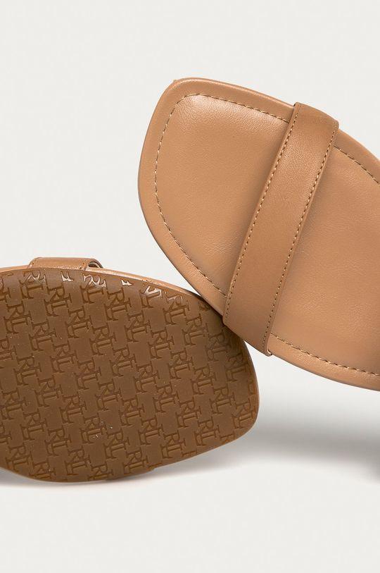 hnedá Lauren Ralph Lauren - Kožené sandále