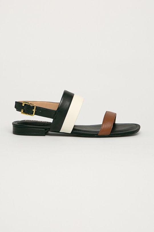 čierna Lauren Ralph Lauren - Kožené sandále Dámsky