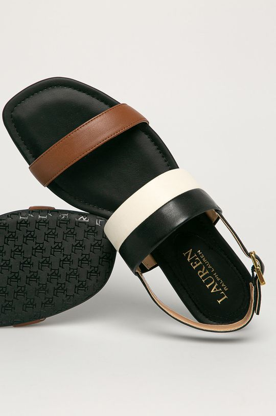 čierna Lauren Ralph Lauren - Kožené sandále