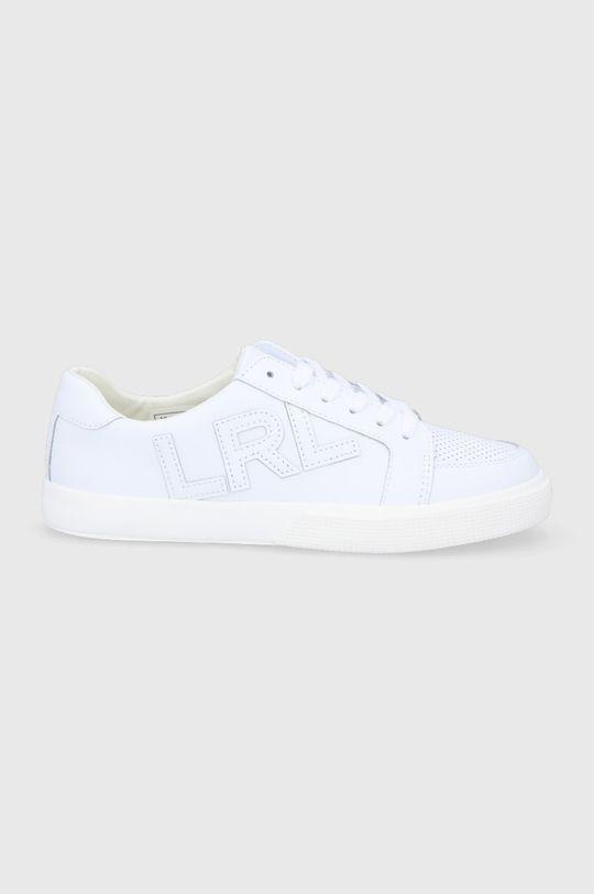 bílá Lauren Ralph Lauren - Kožené boty Dámský