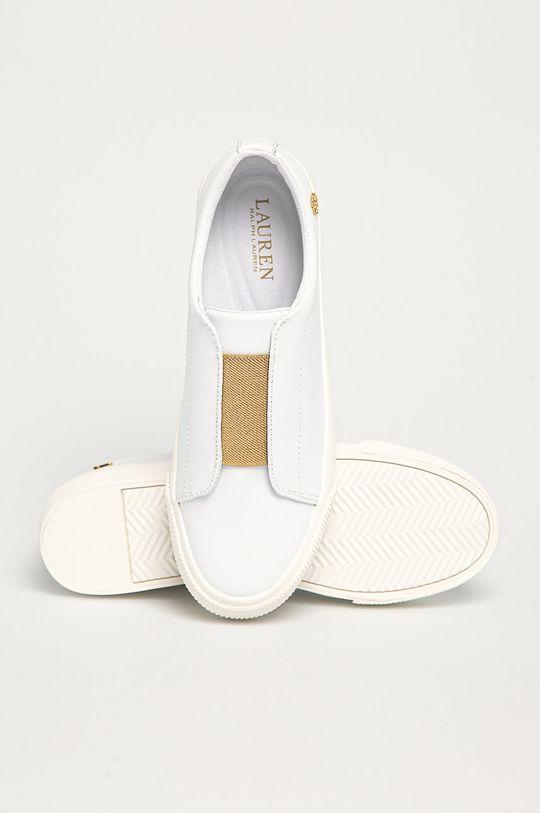 biela Lauren Ralph Lauren - Kožená obuv