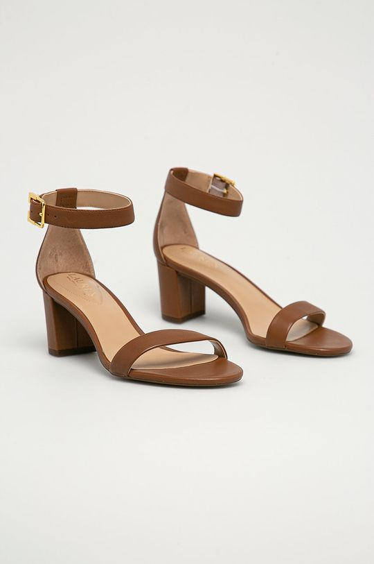 Lauren Ralph Lauren - Sandały skórzane brązowy