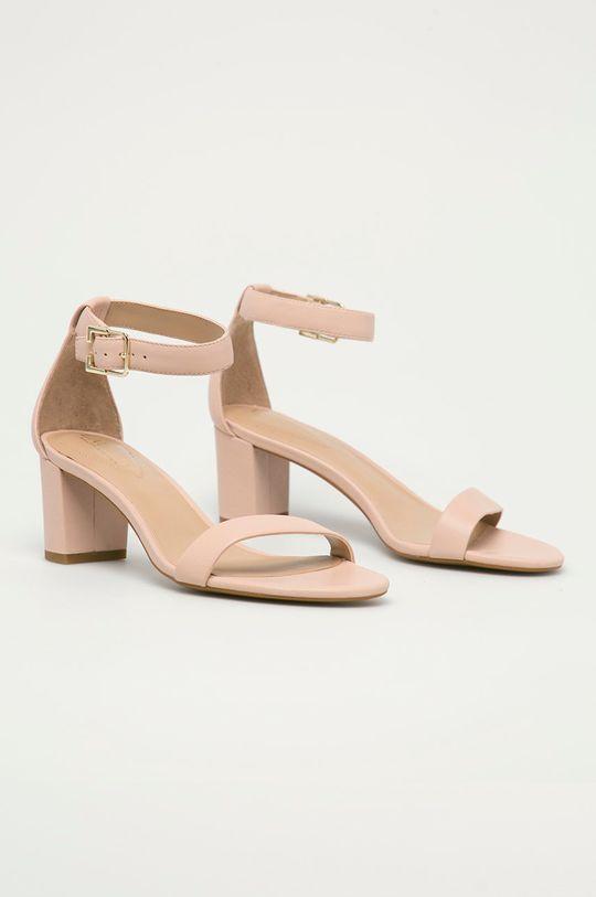 Lauren Ralph Lauren - Sandály pastelově růžová
