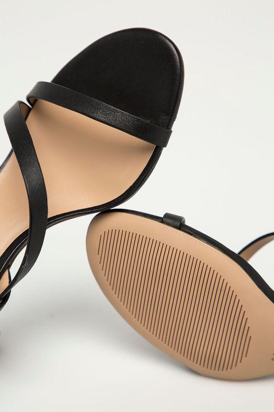 černá Lauren Ralph Lauren - Kožené sandály