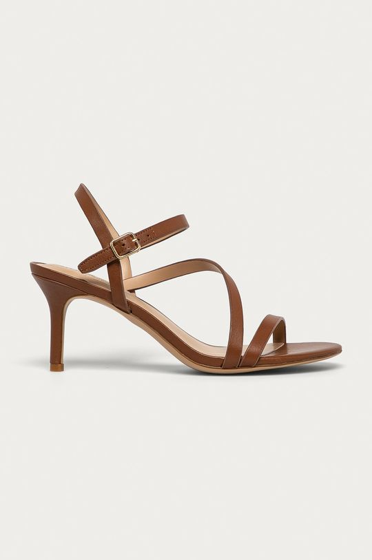 hnědá Lauren Ralph Lauren - Kožené sandály Dámský