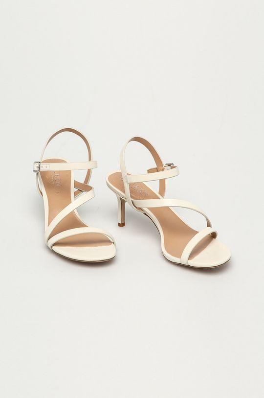 Lauren Ralph Lauren - Kožené sandály smetanová