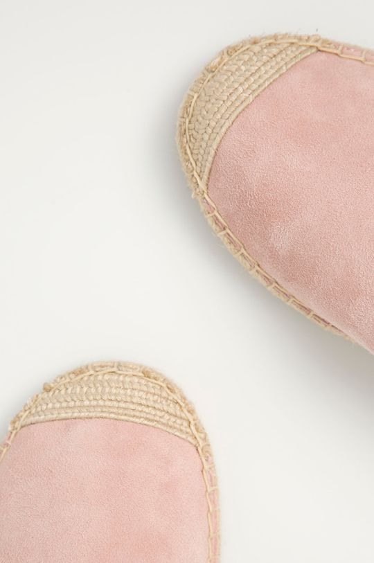 starorůžová Lauren Ralph Lauren - Semišové espadrilky