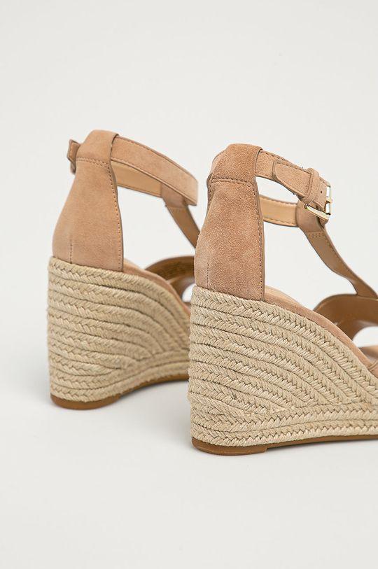 Lauren Ralph Lauren - Semišové sandály  Svršek: Semišová kůže Vnitřek: Umělá hmota, Přírodní kůže Podrážka: Umělá hmota
