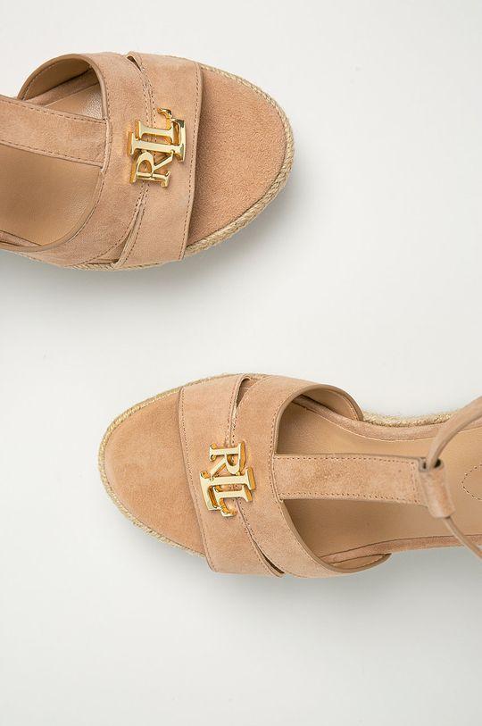 tělová Lauren Ralph Lauren - Semišové sandály