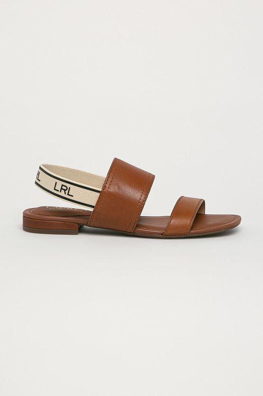 hnedá Lauren Ralph Lauren - Kožené sandále Dámsky