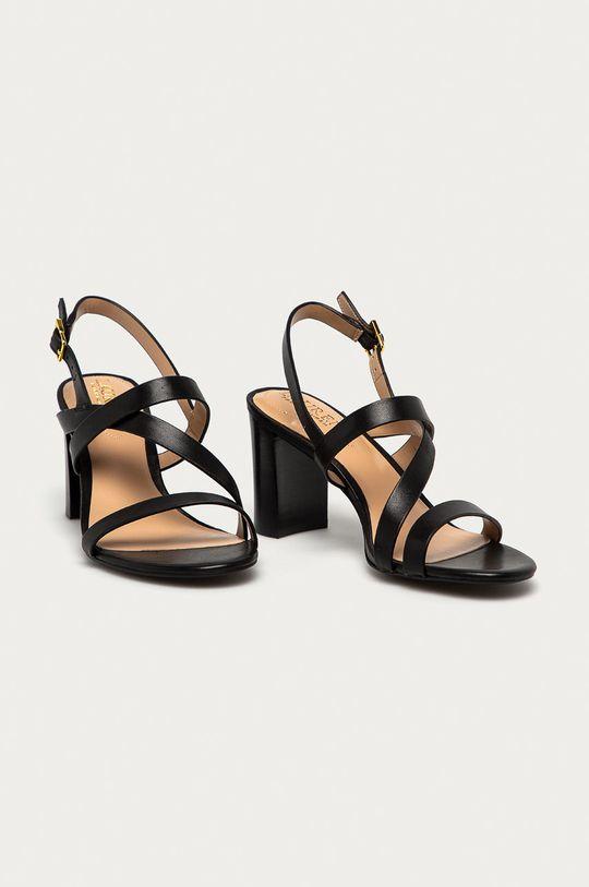 Lauren Ralph Lauren - Sandały skórzane czarny