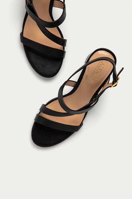 czarny Lauren Ralph Lauren - Sandały skórzane