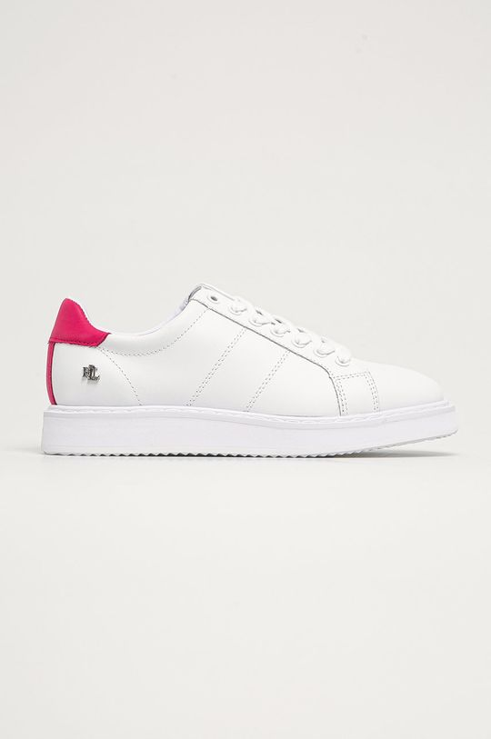 biela Lauren Ralph Lauren - Kožená obuv Dámsky
