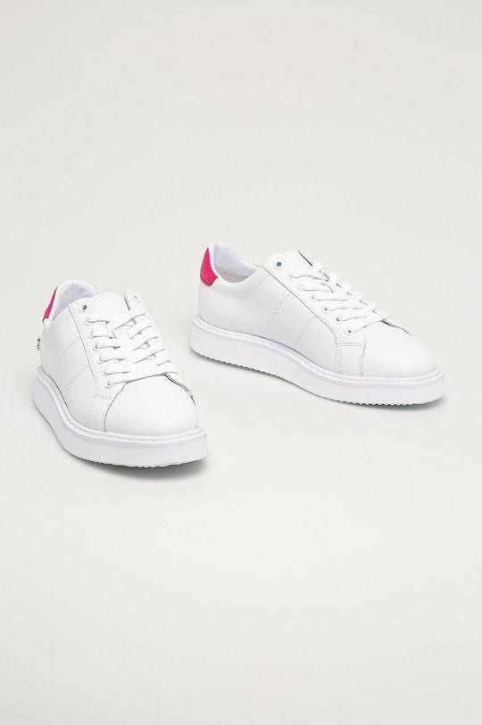 Lauren Ralph Lauren - Kožená obuv biela