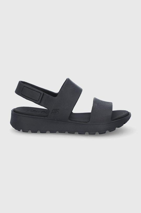 czarny Skechers - Sandały Damski