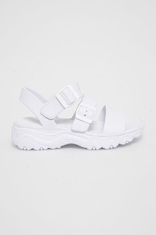 biały Skechers - Sandały Damski