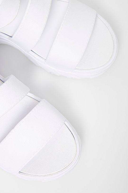 biały Skechers - Sandały