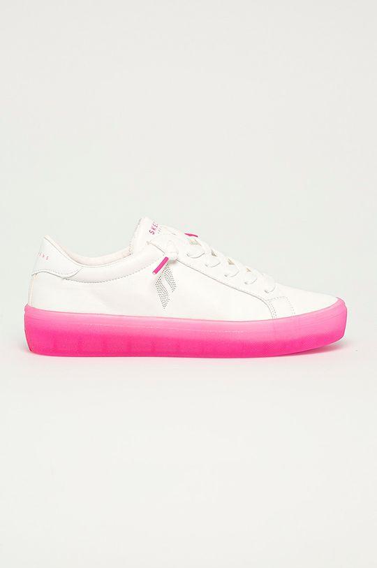 biały Skechers - Tenisówki Damski