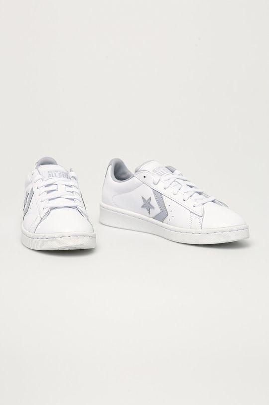 Converse - Kožené boty bílá