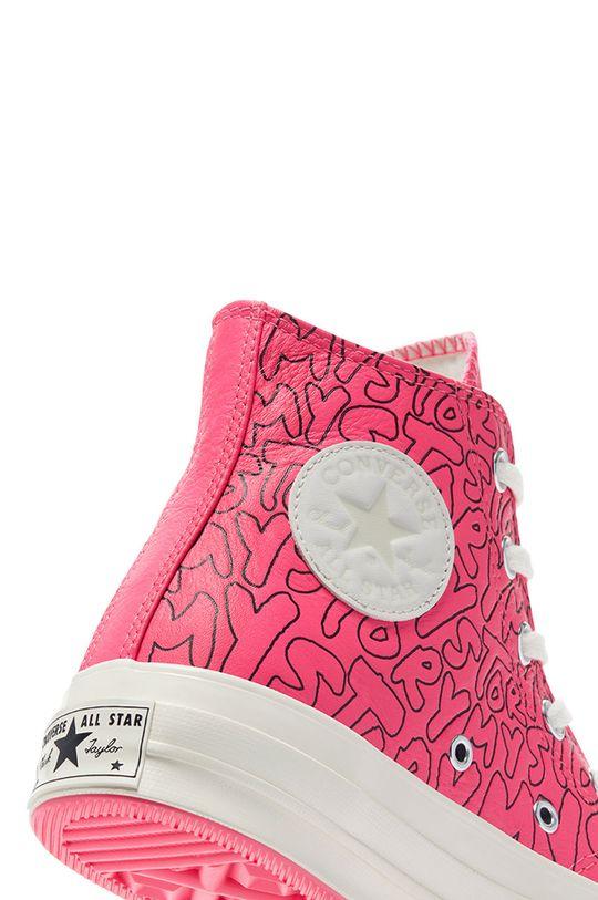 ostry różowy Converse - Trampki skórzane