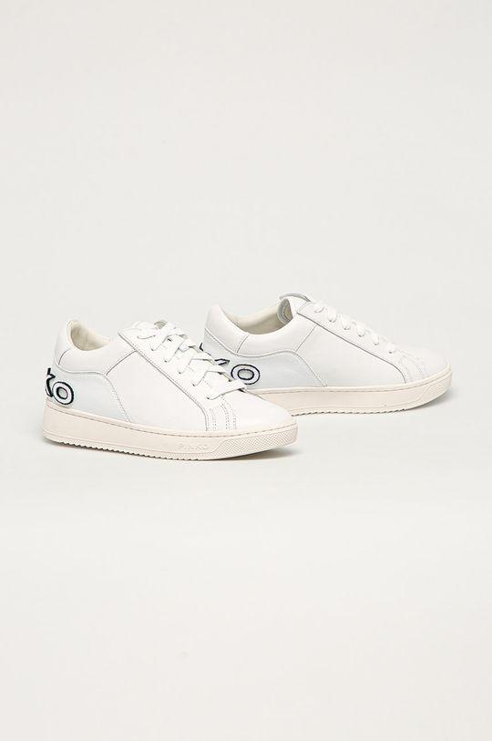 Pinko - Kožené boty bílá