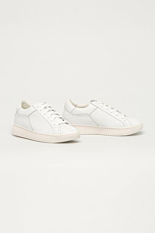 Pinko - Kožená obuv biela