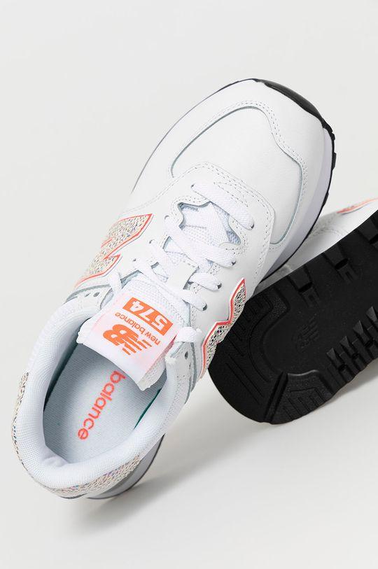 biały New Balance - Buty WL574AP2