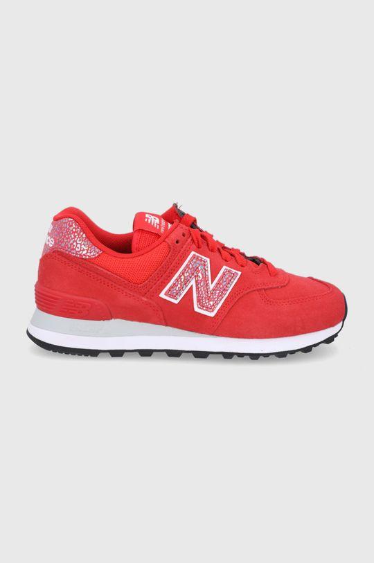 czerwony New Balance - Buty WL574AR2 Damski