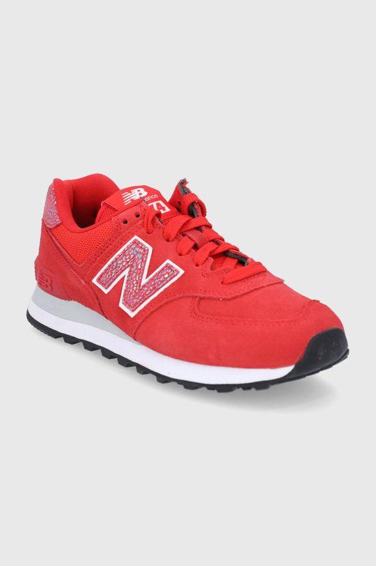 New Balance - Buty WL574AR2 czerwony