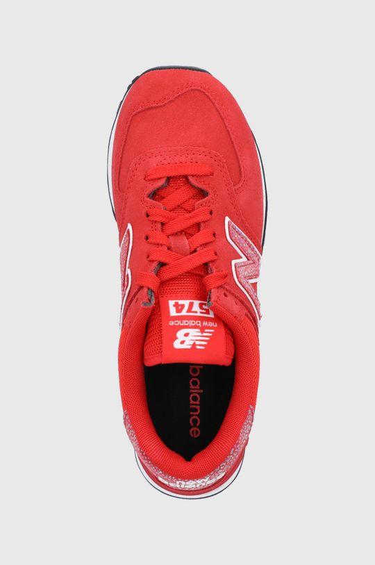 czerwony New Balance - Buty WL574AR2