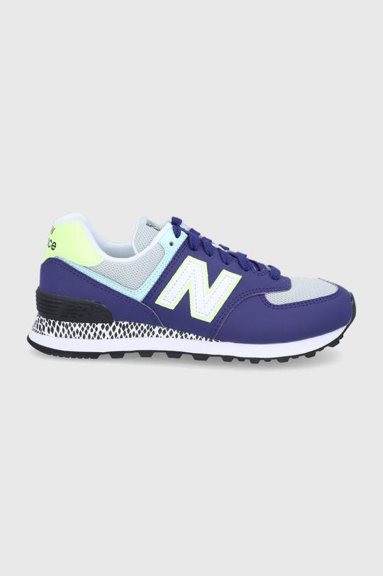 fialová New Balance - Topánky WL574CT2 Dámsky
