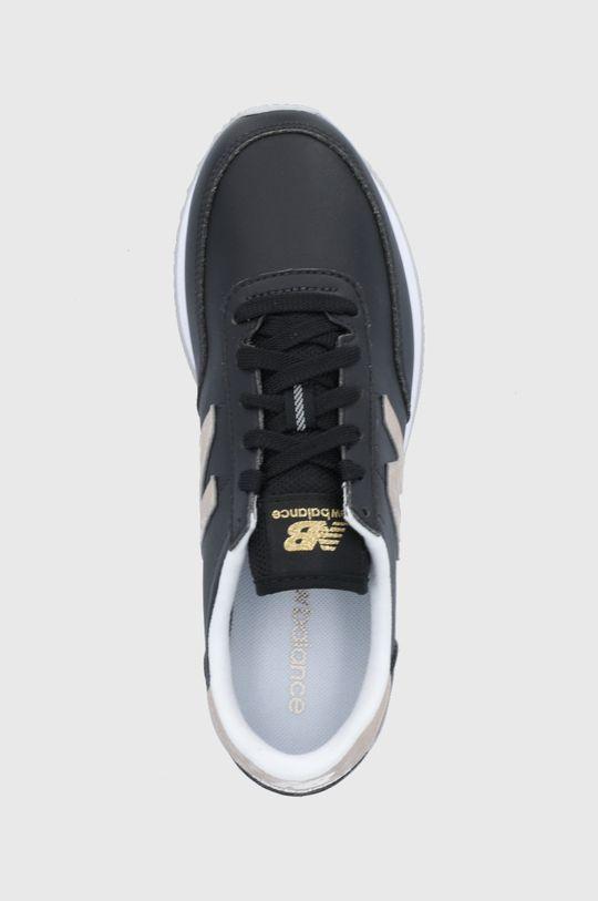 czarny New Balance - Buty skórzane WL720MC1
