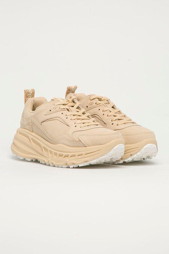 UGG - Kožené boty Emmi béžová