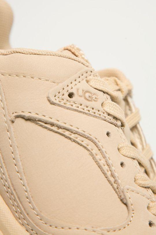 béžová UGG - Kožené boty Emmi
