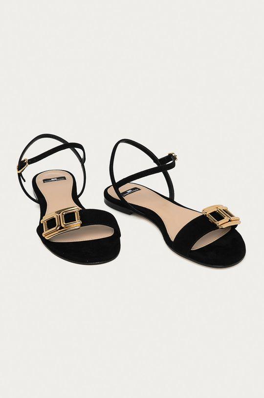 Elisabetta Franchi - Semišové sandále čierna