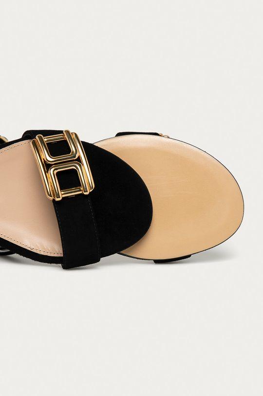 čierna Elisabetta Franchi - Semišové sandále