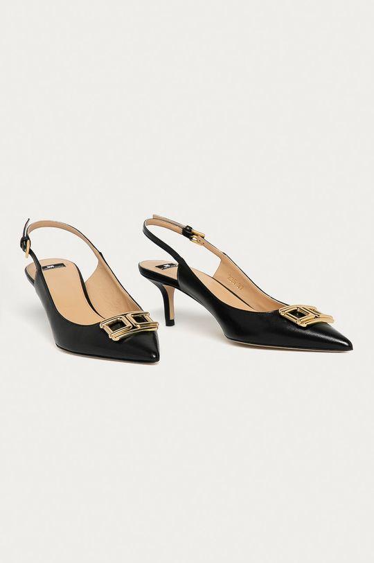 Elisabetta Franchi - Stilettos de piele negru